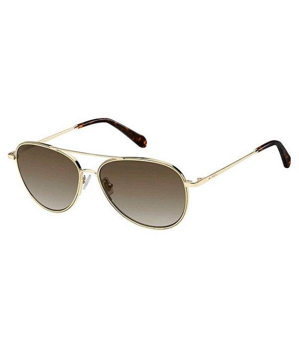 フォッシル メンズ サングラス・アイウェア アクセサリー Light Weight Aviator Sunglasses Light Gold