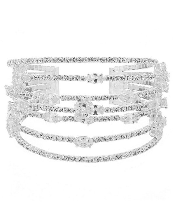 セザンヌ レディース ブレスレット・バングル・アンクレット アクセサリー Floating Stone Cuff Bracelet Silver