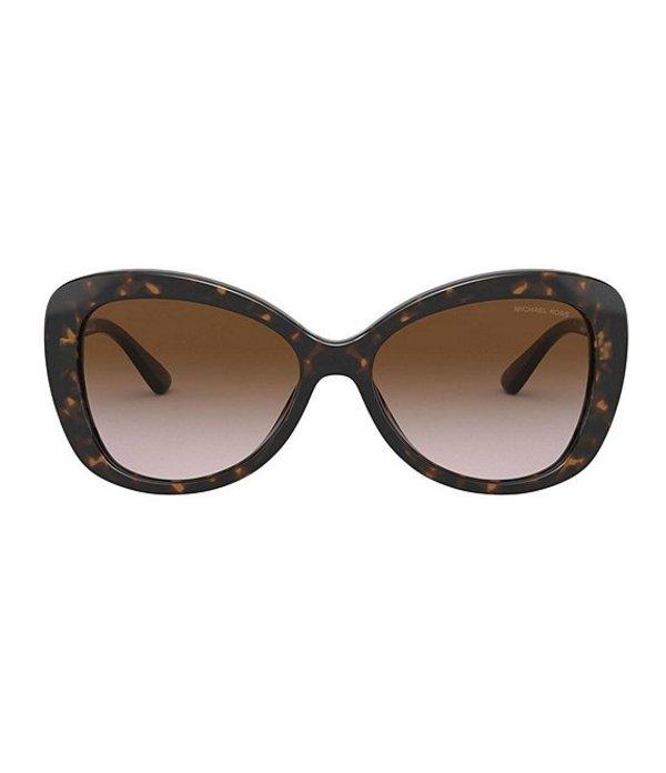 マイケルコース レディース サングラス・アイウェア アクセサリー Positano Butterfly 56mm Sunglasses Dark Tortoise