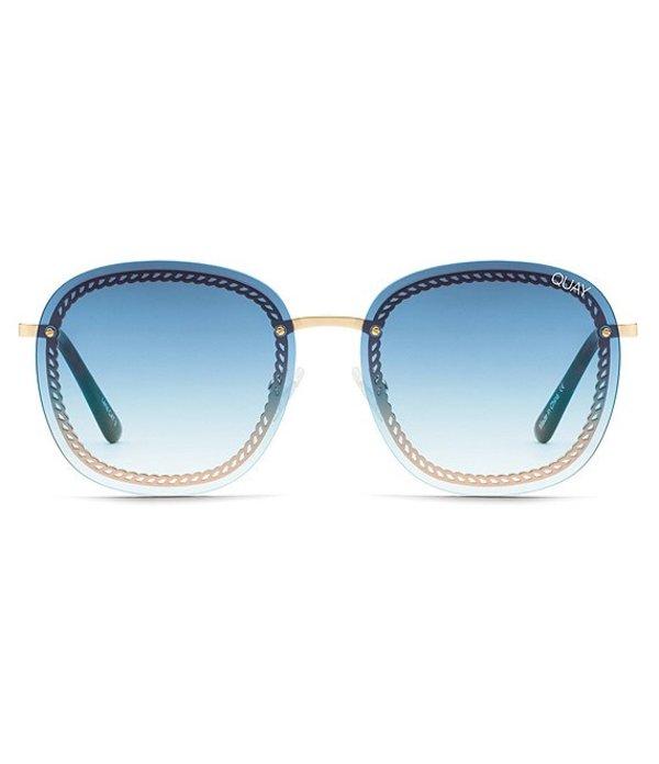 クアイオーストラリア レディース サングラス・アイウェア アクセサリー #QUAYXCHRISSY Jezabell Chain Round Sunglasses Gold Blue Fade