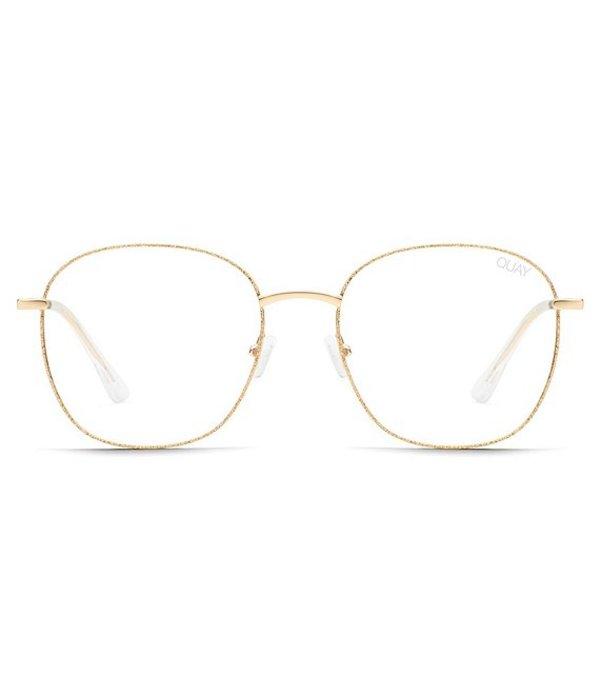 クアイオーストラリア レディース サングラス・アイウェア アクセサリー #QUAYXCHRISSY Jezabell Glitter Blue Light Glasses Gold Glitter