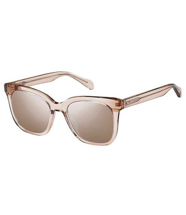 フォッシル レディース サングラス・アイウェア アクセサリー Elie Square 53mm Square Sunglasses Pink