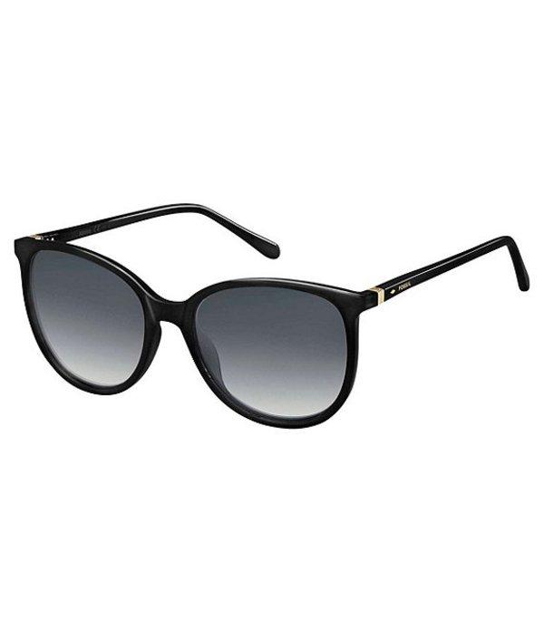 フォッシル レディース サングラス・アイウェア アクセサリー Jade Rounded 55mm Sunglasses Black