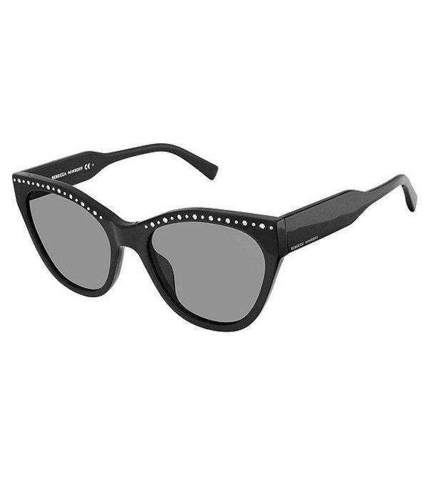 レベッカミンコフ レディース サングラス・アイウェア アクセサリー Martina Studded Cat Eye Sunglasses Black