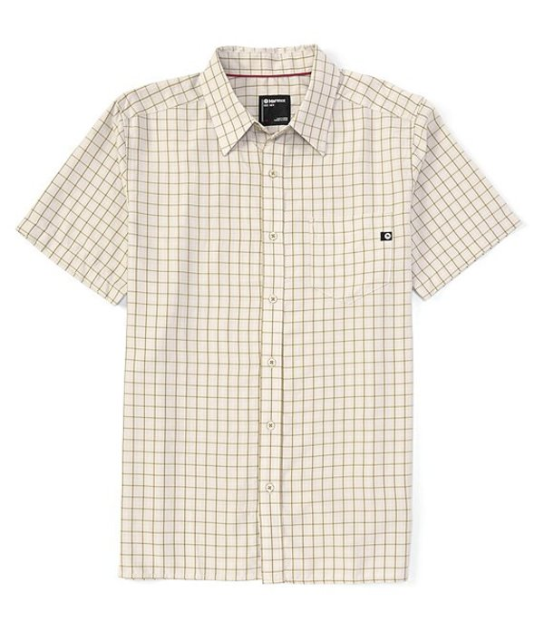マーモット レディース シャツ トップス Eldridge Check Short-Sleeve Recycled Materials Woven Shirt Moonbeam