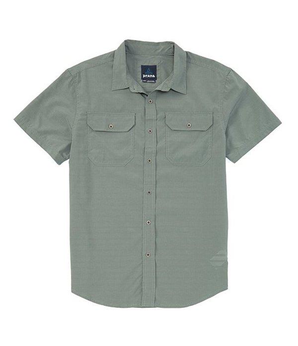 プラーナ レディース シャツ トップス Prana Cayman Short-Sleeve Woven Shirt Canopy