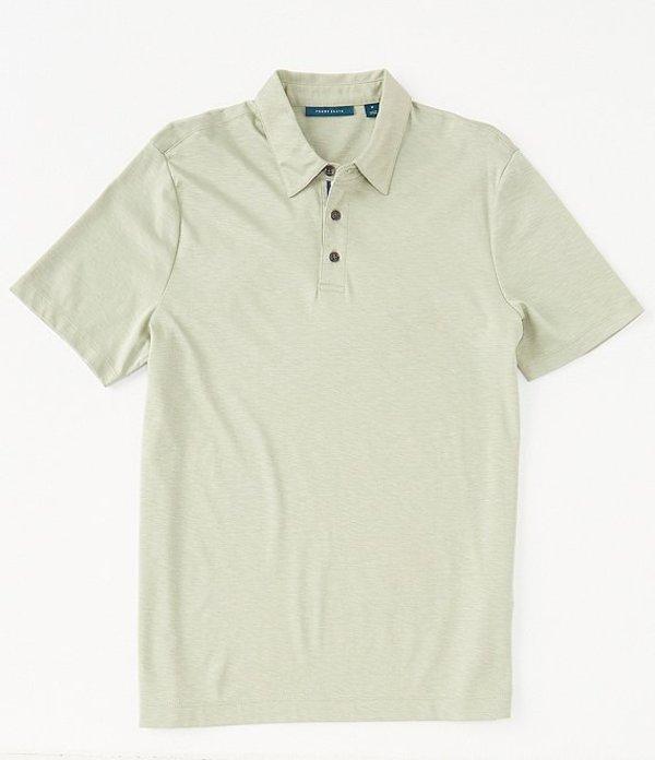 ペリーエリス レディース シャツ トップス Solid Soft-Touch Short-Sleeve Polo Shirt Seagrass