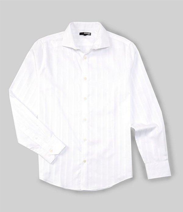 ムラノ レディース シャツ トップス Slim-Fit Textured Long-Sleeve Woven Shirt White