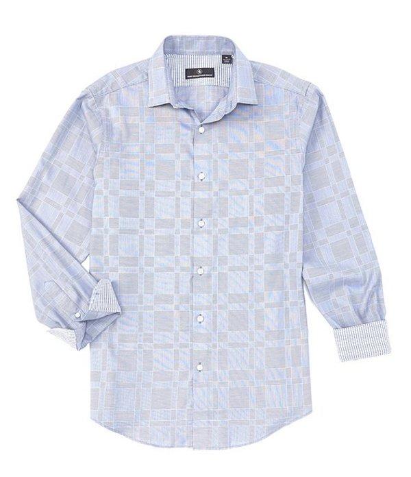 ハート シャフナー マルクス レディース シャツ トップス Long Sleeve Clip Dobby Sportshirt Blue