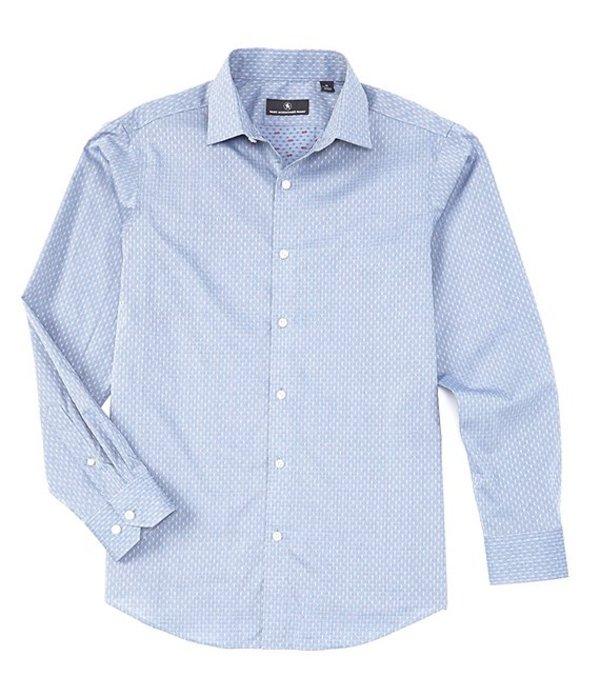ハート シャフナー マルクス レディース シャツ トップス Long Sleeve Checkerboard Sportshirt Blue