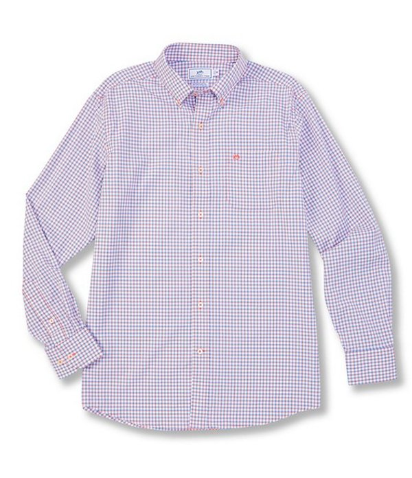 サウザーンタイド レディース シャツ トップス Intercoastal Awash Check Stretch Long-Sleeve Woven Shirt Mango