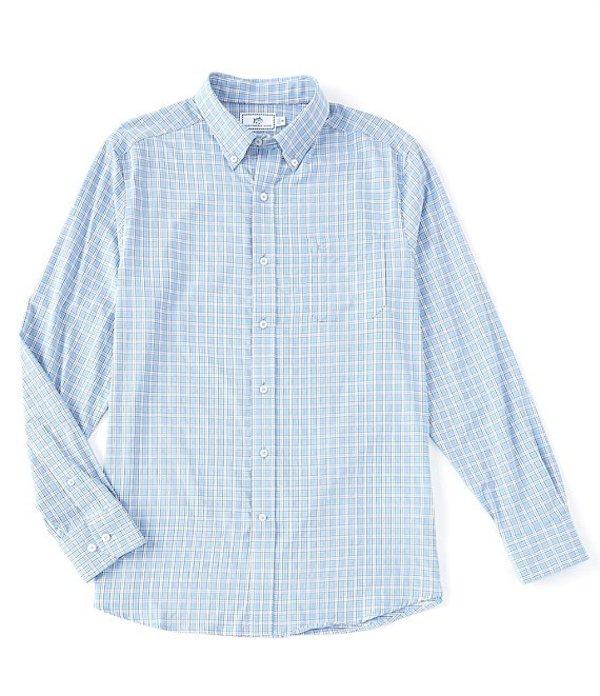 サウザーンタイド レディース シャツ トップス Intercoastal BRRR Yawl Check Stretch Long-Sleeve Woven Shirt Hurricane Blue