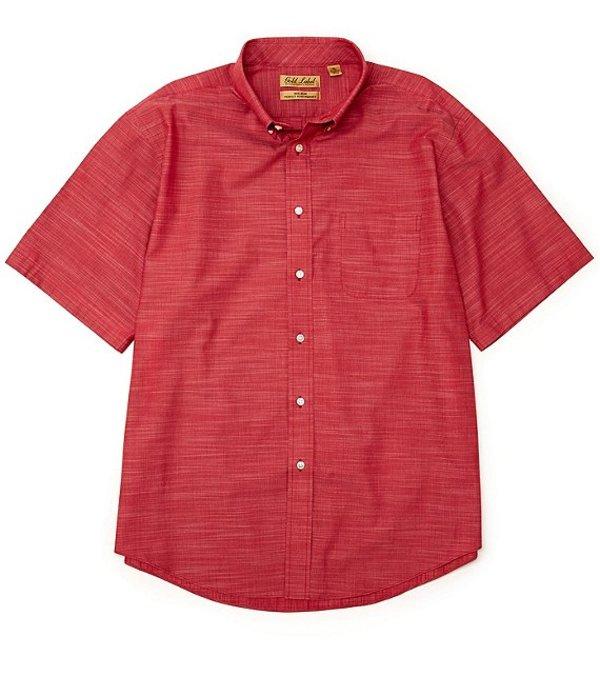 ラウンドトゥリーアンドヨーク レディース シャツ トップス Gold Label Roundtree & Yorke Perfect Performance Short-Sleeve Non-Iron Solid Slub Sportshirt Berry Red