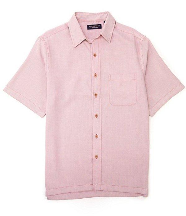 ラウンドトゥリーアンドヨーク レディース シャツ トップス Short-Sleeve Solid Textured Square Tailed Shirt Berry Red
