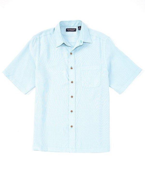 ラウンドトゥリーアンドヨーク レディース シャツ トップス Short-Sleeve Solid Textured Square Tailed Shirt Light Aqua