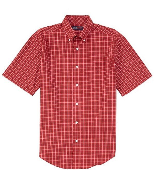 ラウンドトゥリーアンドヨーク レディース シャツ トップス TravelSmart Short-Sleeve Tattersall Sportshirt Cherry
