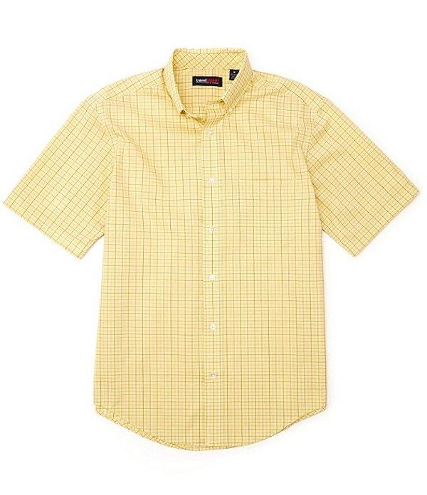 ラウンドトゥリーアンドヨーク レディース シャツ トップス TravelSmart Short-Sleeve Tattersall Sportshirt Light Yellow