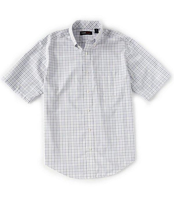 ラウンドトゥリーアンドヨーク レディース シャツ トップス TravelSmart Short-Sleeve Tattersall Sportshirt White