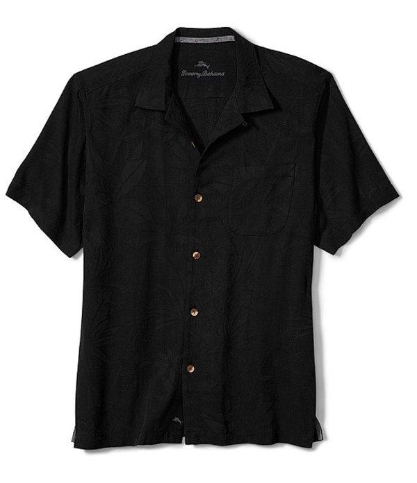 トッミーバハマ レディース シャツ トップス Big & Tall Al Fresco Tropics Short-Sleeve Woven Shirt Black