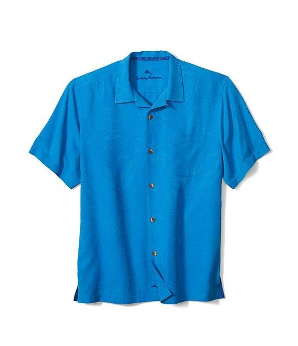 トッミーバハマ レディース シャツ トップス Big & Tall Al Fresco Tropics Short-Sleeve Woven Shirt Seven Seas Blue