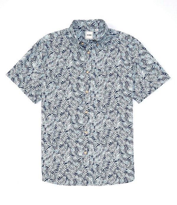 ラウン レディース シャツ トップス Short-Sleeve Palm Print Sportshirt Mint Leaf