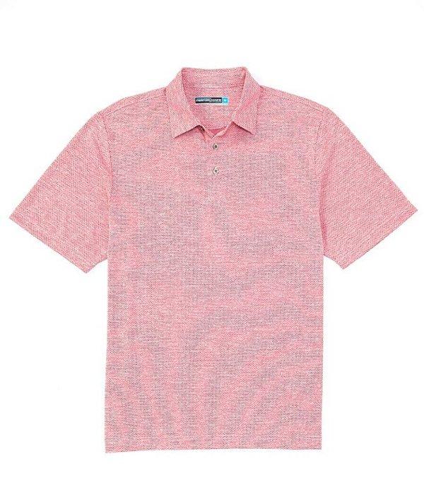 ラウンドトゥリーアンドヨーク レディース シャツ トップス Performance Short-Sleeve Spacedye Jacquard Polo Vivacious Pink