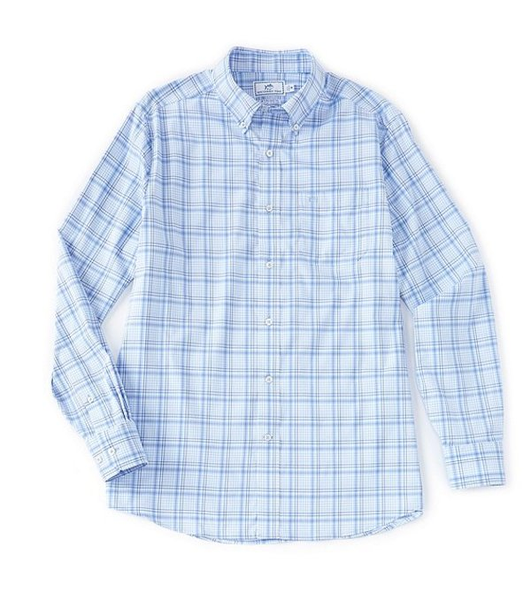 サウザーンタイド レディース シャツ トップス Intercoastal Abound Plaid Stretch Long-Sleeve Woven Shirt Sky Blue