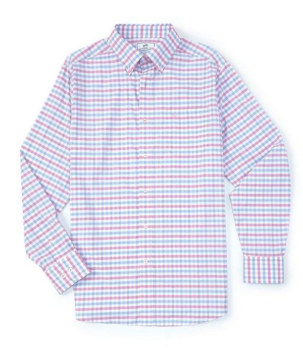 サウザーンタイド レディース シャツ トップス Intercoastal Fuskie Tattersall Stretch Long-Sleeve Woven Shirt Fresco Pink