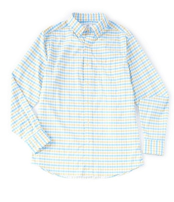 サウザーンタイド レディース シャツ トップス Intercoastal Fuskie Tattersall Stretch Long-Sleeve Woven Shirt Sunshine