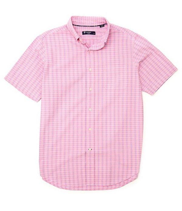 ダニエル クレミュ レディース シャツ トップス Short-Sleeve Check Oxford Woven Shirt Rose Bloom