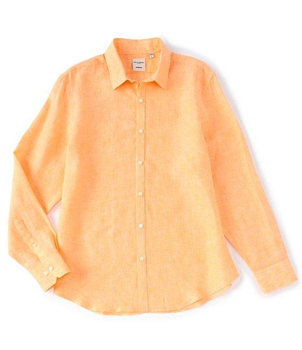 ムラノ レディース シャツ トップス Big & Tall Baird McNutt Linen Solid Long-Sleeve Woven Shirt Coral
