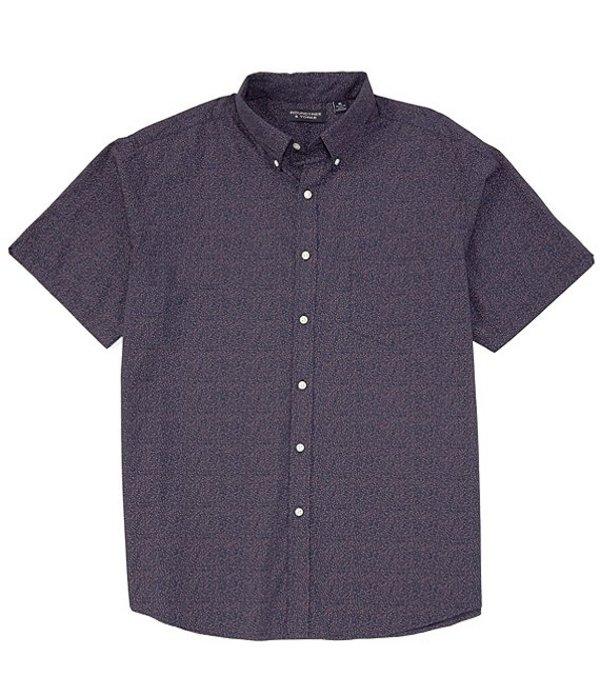 ラウンドトゥリーアンドヨーク レディース シャツ トップス Big & Tall Short-Sleeve Paisley Tailored to Wear Untucked Sportshirt Deep Blue