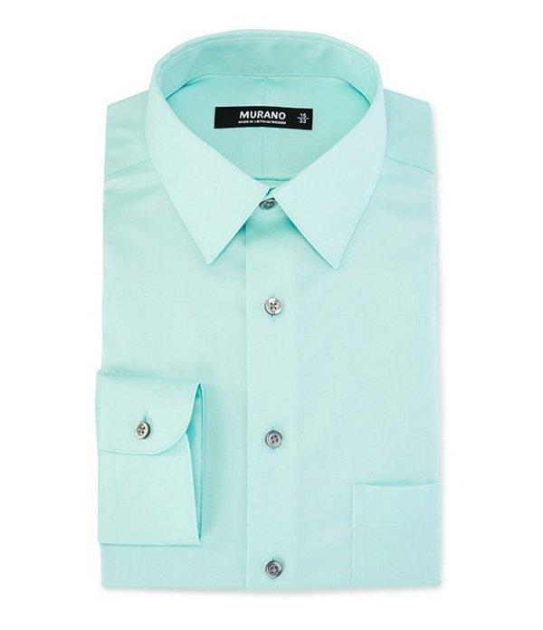 ムラノ レディース シャツ トップス Slim-Fit Point-Collar Sateen Dress Shirt Aqua