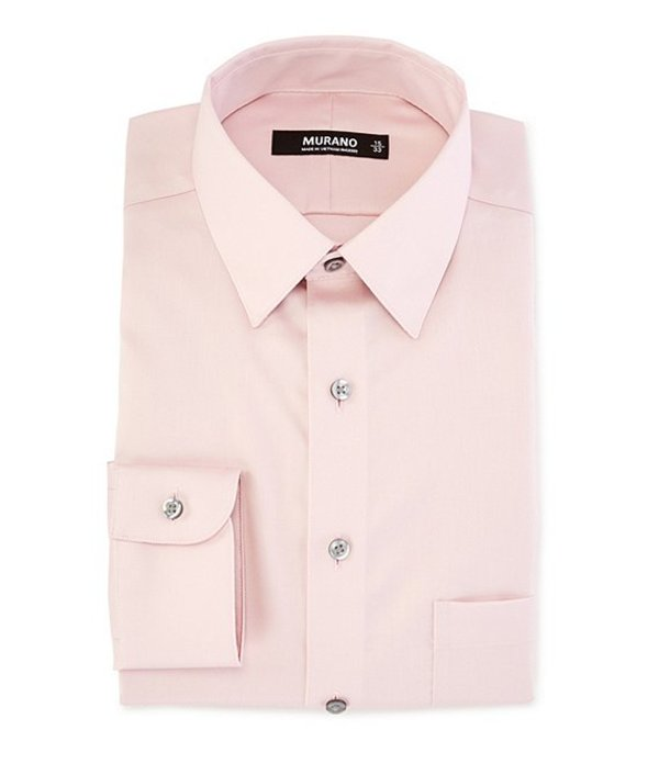 ムラノ レディース シャツ トップス Slim-Fit Point-Collar Sateen Dress Shirt Pink