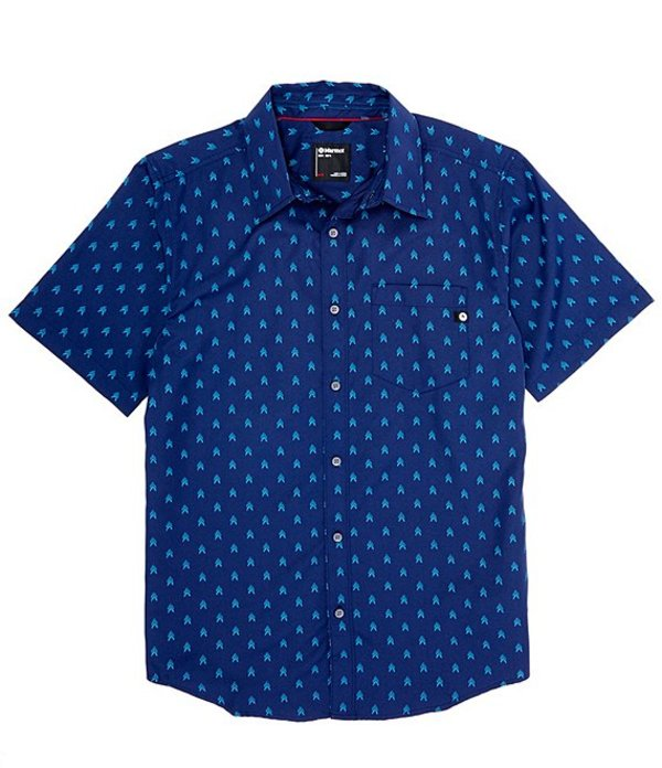 マーモット レディース シャツ トップス Lykken Arrows Print Short-Sleeve Woven Shirt Arctic Navy
