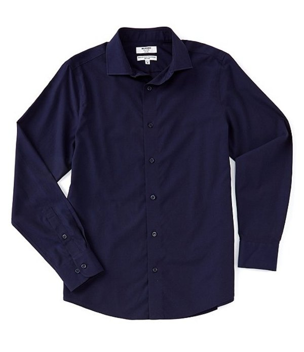 ムラノ レディース シャツ トップス Slim-Fit Non-Iron Italian Solid Long-Sleeve Woven Shirt Navy