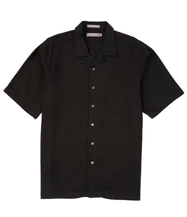 ダニエル クレミュ レディース シャツ トップス Daniel Cremieux Signature Herringbone Short-Sleeve Woven Camp Shirt Black