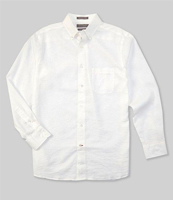ダニエル クレミュ レディース シャツ トップス Daniel Cremieux Signature Solid Stretch Linen Long-Sleeve Woven Shirt White