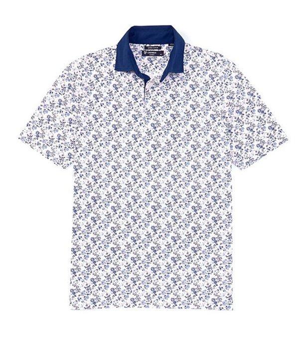 ダニエル クレミュ レディース シャツ トップス Supima Cotton Printed Multi-Color Short-Sleeve Polo Shirt White