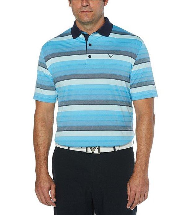 キャラウェイ レディース シャツ トップス Golf Big & Tall Yarn-Dyed Gradient Oxford Short-Sleeve Polo Shirt Peacoat