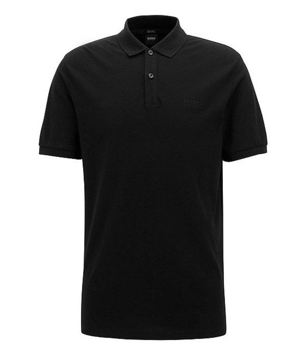 ヒューゴボス レディース シャツ トップス BOSS Big & Tall B-Pallas Short-Sleeve Polo Shirt Black