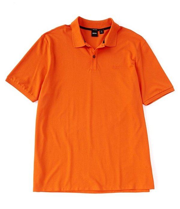 ヒューゴボス レディース シャツ トップス BOSS Big & Tall B-Pallas Short-Sleeve Polo Shirt Bright Orange