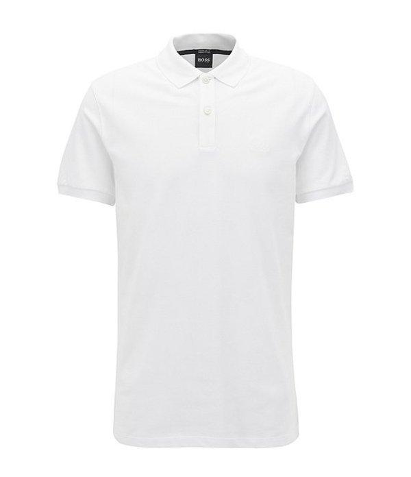 ヒューゴボス レディース シャツ トップス BOSS Big & Tall B-Pallas Short-Sleeve Polo Shirt White