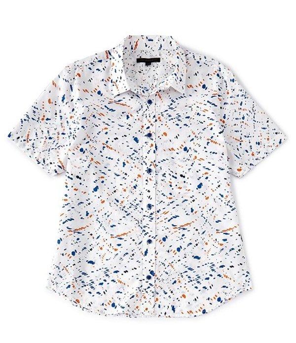 ジョンバルベイトス レディース シャツ トップス Star USA Slim-Fit Doug Print Short-Sleeve Woven Shirt Sunset