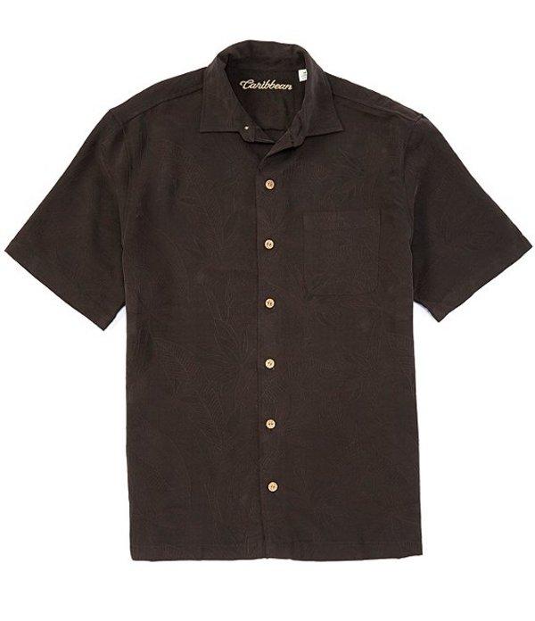 カリビアン レディース シャツ トップス Bird of Paradise Short-Sleeve Woven Shirt Black