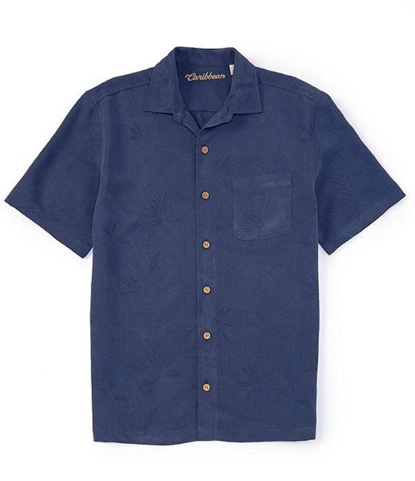 カリビアン レディース シャツ トップス Bird of Paradise Short-Sleeve Woven Shirt Cobalt