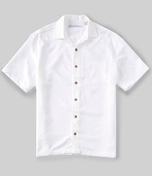 カリビアン レディース シャツ トップス Bird of Paradise Short Sleeve Woven Shirt WhitezMqSUGVp