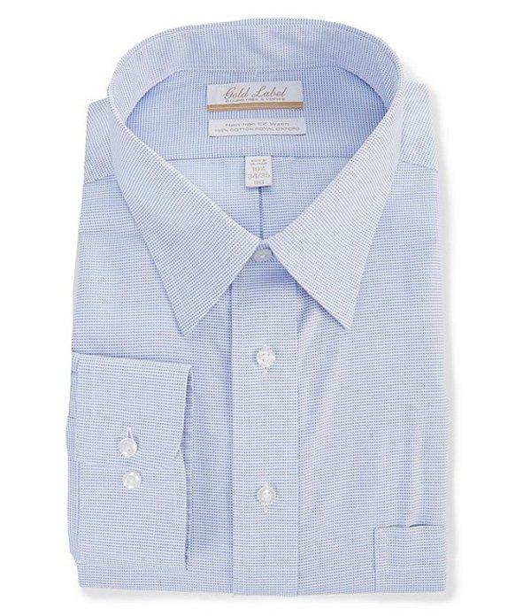 ラウンドトゥリーアンドヨーク レディース シャツ トップス Gold Label Roundtree & Yorke Big & Tall Non-Iron Point Collar Striped Dress Shirt Blue/White