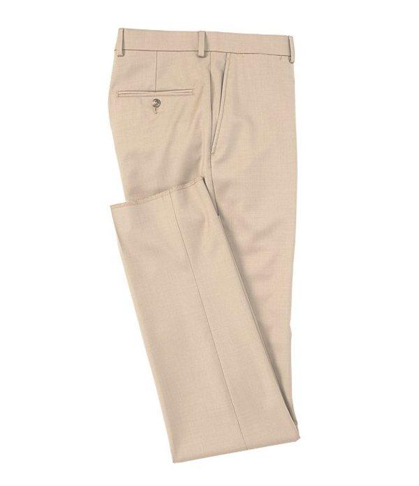 ハート シャフナー マルクス レディース ワンピース トップス New York Tailored Modern Fit Wool Flat-Front Dress Pants Tan
