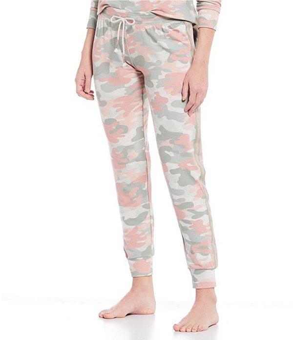 ピージェイサルベージ レディース カジュアルパンツ ボトムス Camouflaged Printed French Terry Jogger Sleep Pants Oatmeal
